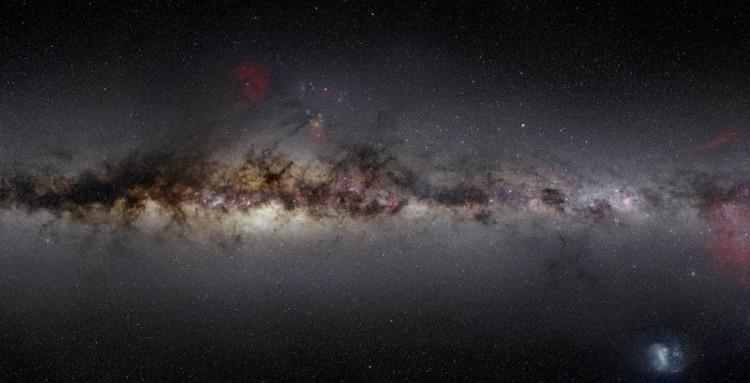 Đây Là Ánh Sáng Khả Kiến Mà Mắt Người Sẽ Quan Sát Được. (Ảnh:  Gleamoscope/Nick Risinger/Skysurvey.Org).