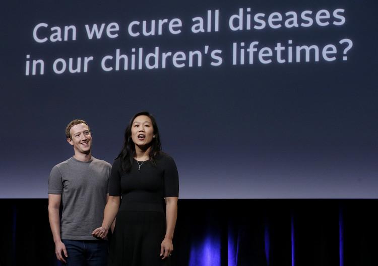 """Mark Zuckerberg và Priscilla Chan muốn """"chữa khỏi mọi loại bệnh"""""""