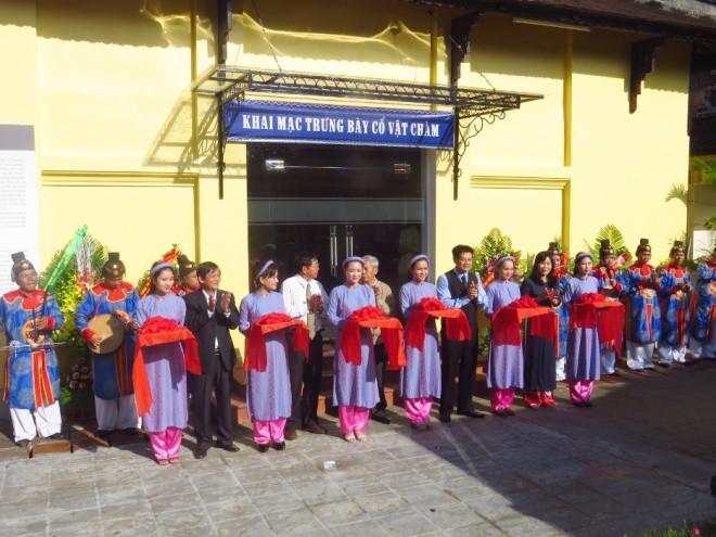 Ngày 23/11, Trung tâm bảo tồn di tích cố đô Huế mở cửa khu cổ vật Chàm tại Bảo tàng cổ vật cung đình Huế sau 71 năm đóng cửa.