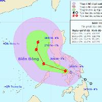 Bão Tokage giật cấp 10 - 11 hướng vào biển Đông