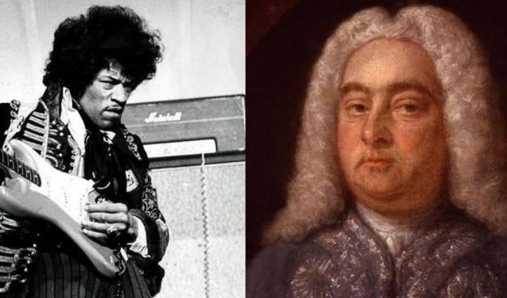 Jimi Hendrix và George Handel