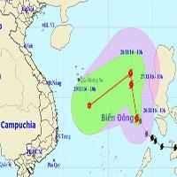 Bão Tokage trên biển Đông, hướng Nam Trung Bộ