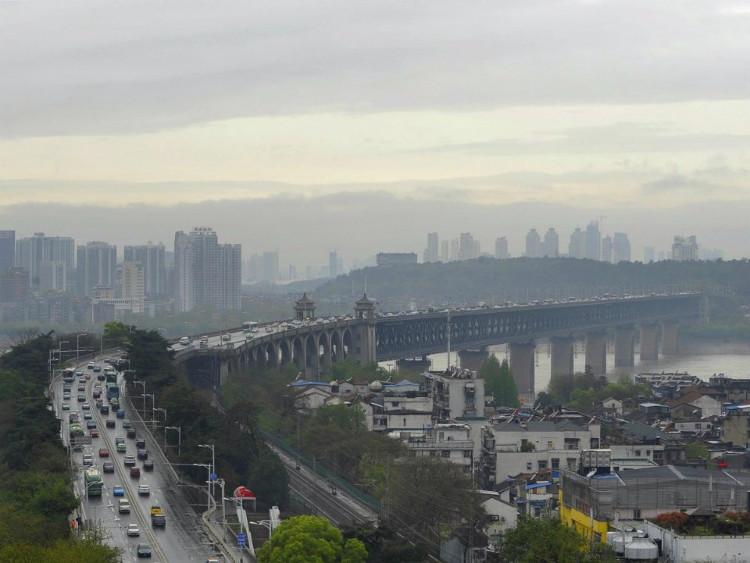 Cầu sông Vũ Hán Tianxingzhou Dương tử