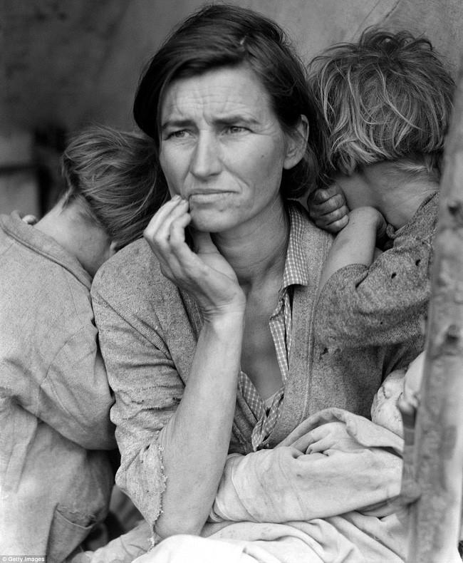 Thảm cảnh một gia đình trong Đại khủng hoảng Mỹ, 1930.