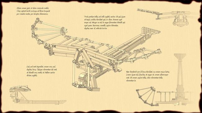 Cấu tạo của máy bay do thiên tài Leonardo da Vinci nghĩ ra.