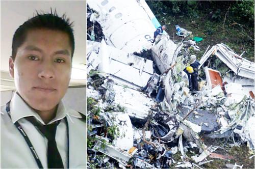 Anh Erwin Tumiri, một trong sáu người may mắn sống sót sau vụ tai nạn máy bay ở Colombia.