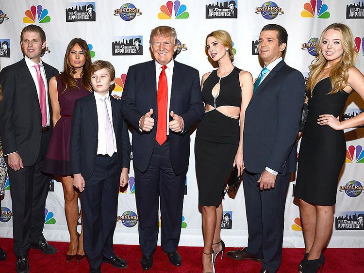 Tổng thống đắc cử Donald Trump có ba con trai, hai con gái.