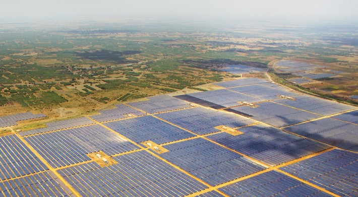 India inaugurated the world's largest solar power plant