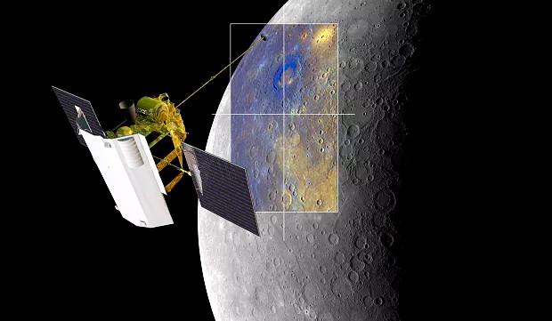 Mô phỏng tàu thăm dò MESSENGER của NASA đang khảo sát Sao Thủy.