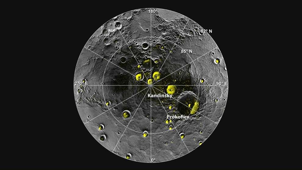 Vùng cực của sao Thủy có thể tồn tại nước ở dạng đóng băng.