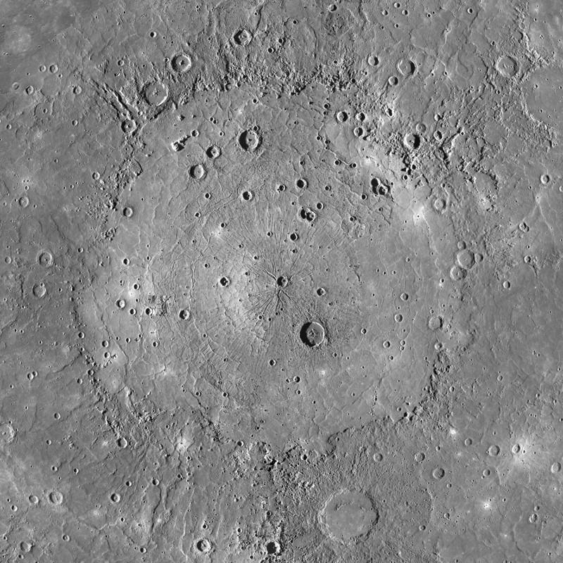 Lưu vực núi lửa Caloris rộng lớn với bằng chứng được cho là đã từng có những vụ phun trào dung nham ở nơi đây