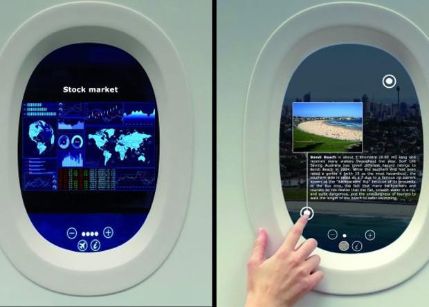 Cửa sổ tích hợp màn hình LCD và lớp cảm ứng