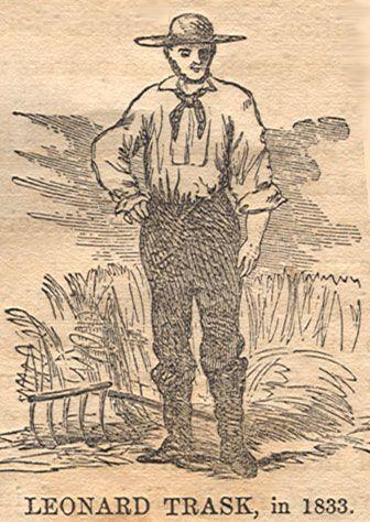 Tranh vẽ Trask vào năm 1833 trước khi gặp tai nạn.