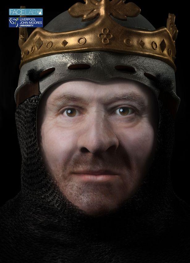 Hình ảnh tái tạo của vua Scotland có đặc điểm giống cầu thủ Wayne Rooney.