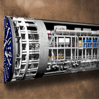 Video: Siêu máy khoan nghìn tấn xây đường hầm dưới lòng London