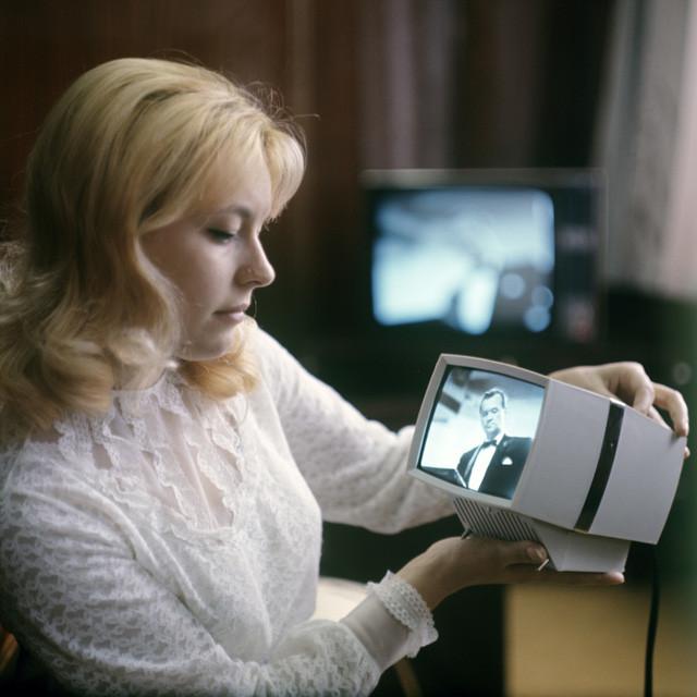 """Tivi con di động """"Kvant"""" được sản xuất tại nhà máy đèn hình Lviv từ năm 1974."""