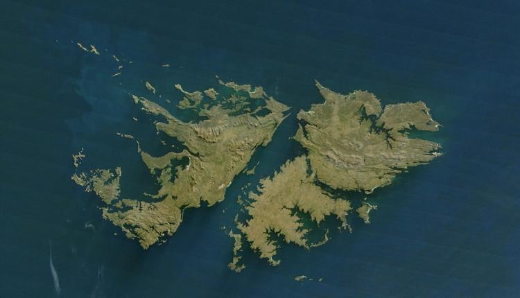 Vị trí của đảo Falkland.
