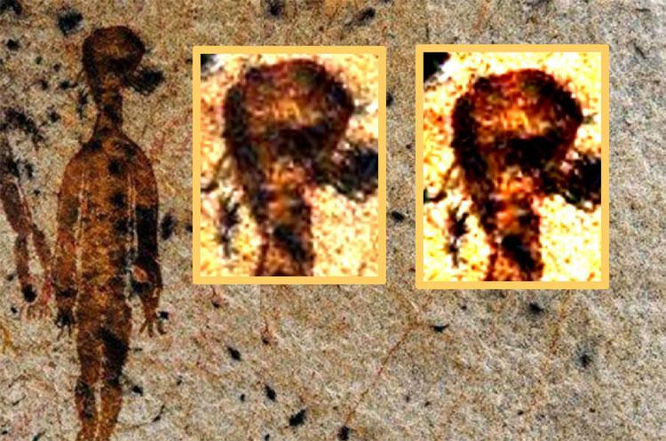 Hình vẽ kỳ lạ mô tả người ngoài hành tinh.