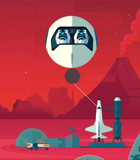Đây nơi phóng những con tàu di chuyển giữa Trái đất và sao Hỏa.
