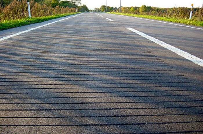 Mặt đường sẽ được tạo những đường rãnh nhỏ.