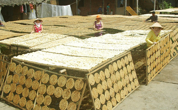 Làng nghề chuối khô ở Cà Mau
