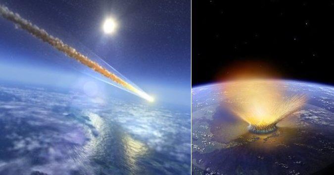 Nếu ở trên mặt đất, thiên thạch rơi tạo ra một cái hố lớn có thể nuốt chửng cả thành phố.