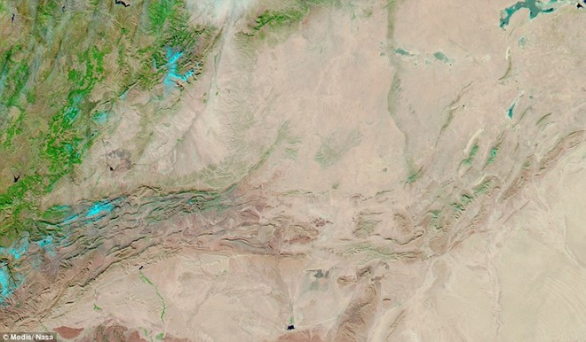 Bức ảnh chụp cùng một khu vực vào cuối tháng 12/2014.