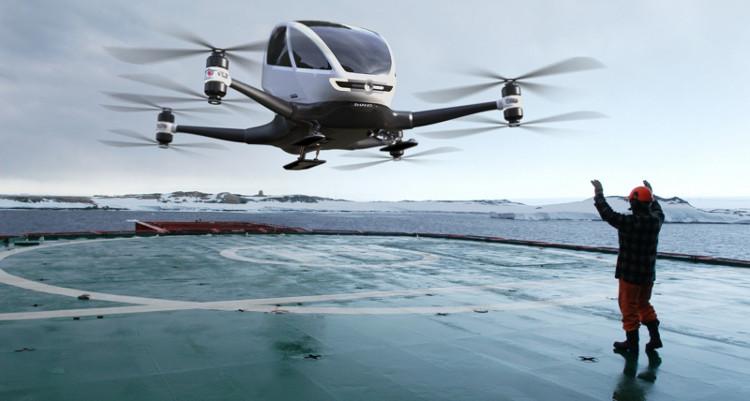 EHang 184, được giới thiệu tại triển lãm CES 2016 là một thiết bị bay thú vị.
