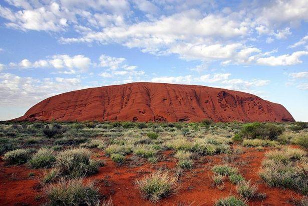Khối đá trong trạng thái bình thường ở Úc.
