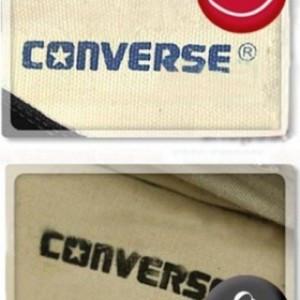 Nhãn hiệu converse chính hãng.