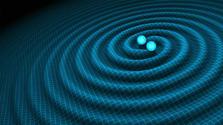 Sóng hấp dẫn là kết quả từ hai siêu lỗ đen va vào nhau.