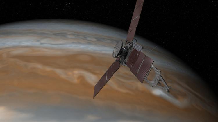 Tàu vũ trụ Juno tiếp cận sao Mộc.