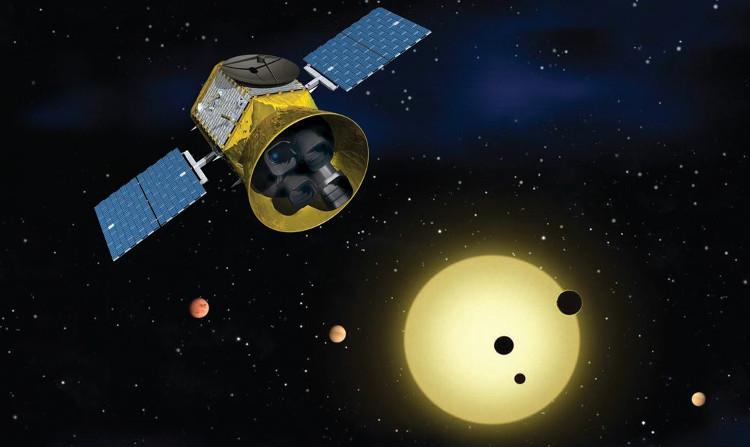 Hình minh họa vệ tinh TESS của NASA.