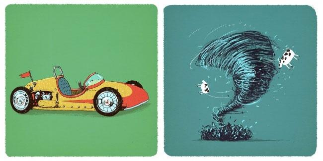 Xe đua và cơn lốc xoáy