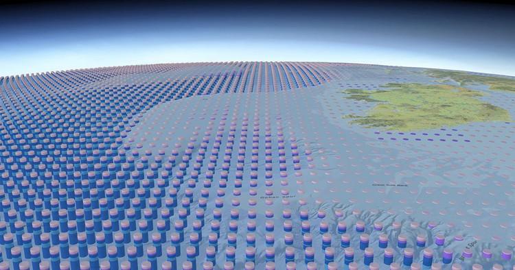 Tấm bản đồ 3D về toàn bộ Đại dương trên bề mặt Trái Đất.