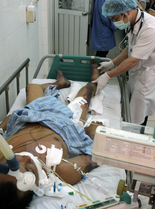 Điều trị cho bệnh nhân mắc liên cầu lợn tại Bệnh viện Bệnh nhiệt đới Trung ương.