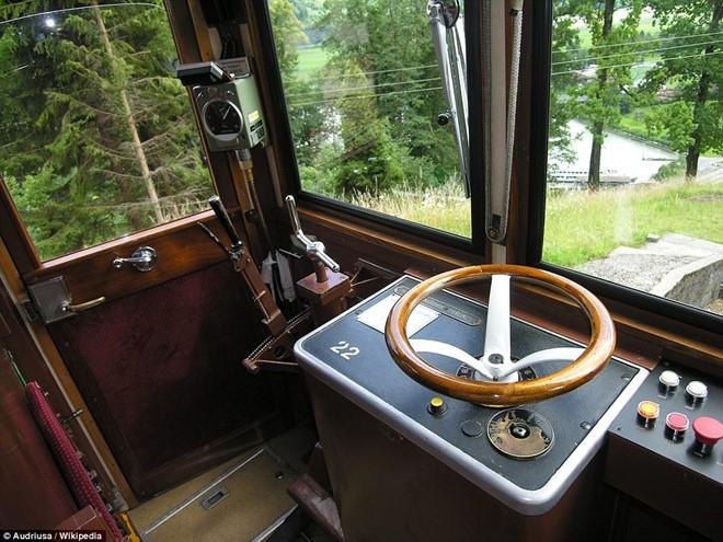 Kỹ sư Eduard Locher thiết kế hệ thống phanh tự động, ngăn tàu chạy quá nhanh khi xuống dốc