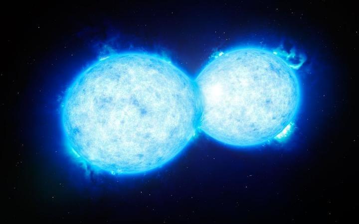 Hai ngôi sao bị hút vào nhau sẽ gây ra một vụ nổ và tạo ra một ngôi sao mới rực sáng trên bầu trời đêm.