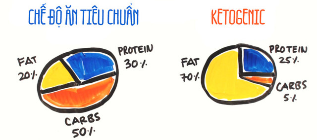 Nguyên tắc của chế độ ăn Ketogenic là bạn phải giảm lượng carbohydrate xuống mức 30-50g/ngày