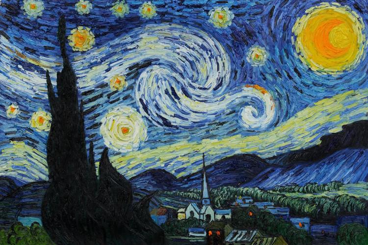 """Bức tranh """"Đêm đầy sao"""" là một trong những tác phẩm mỹ thuật khắc họa bầu trời đêm đẹp nhất."""
