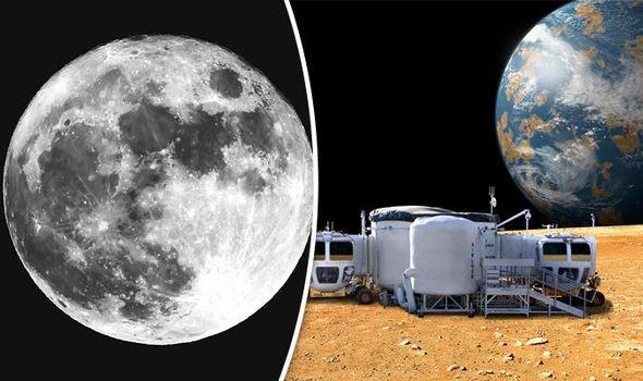 Ở hai cực Mặt trăng có ít nhất 1-2% nguyên liệu là băng giá tạo thành từ nước.
