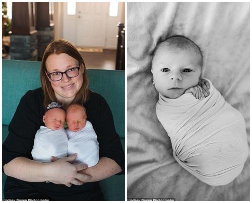 Lyndsay, mẹ của hai bé, đã khóc rất nhiều khi nhận được những bức ảnh này.