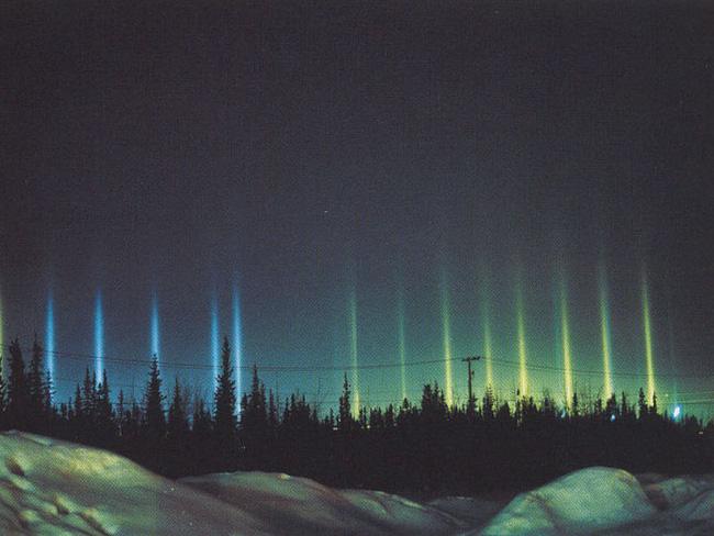 Trụ ánh sáng thường xảy ra vào những đêm thời tiết rất lạnh