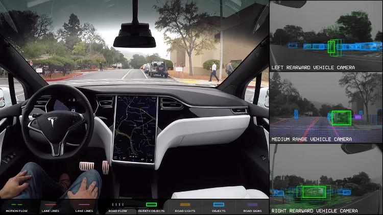 Tesla trang bị hệ thống tự lái trên tất cả các dòng xe của hãng.