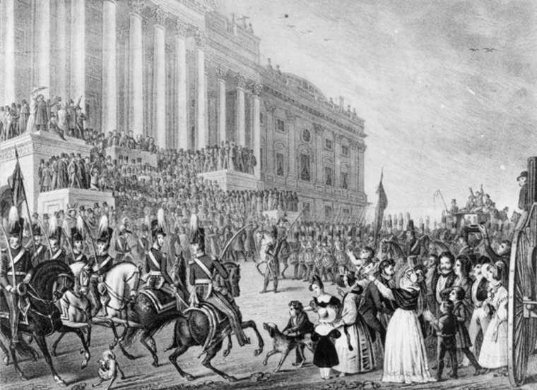 Đoàn diễu hành trong ngày nhậm chức của Tổng thống Harrison năm 1841.