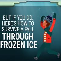 Video: Cách thoát hiểm khi ngã xuống hồ nước đóng băng