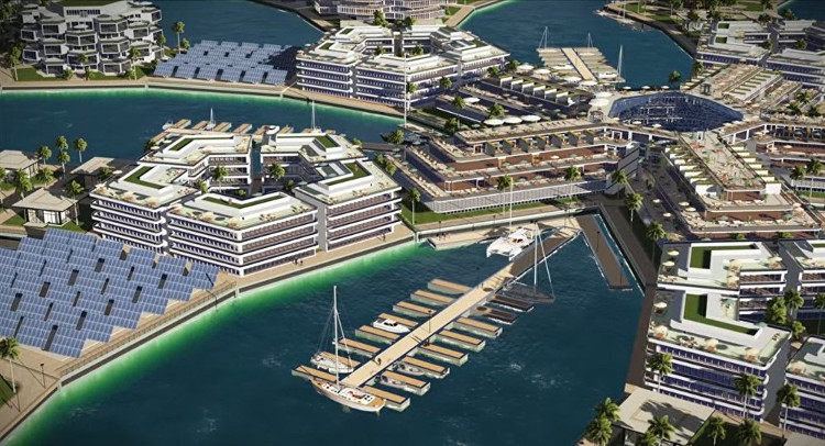 Dự án thành phố nổi đầu tiên ở Thái Bình Dương.
