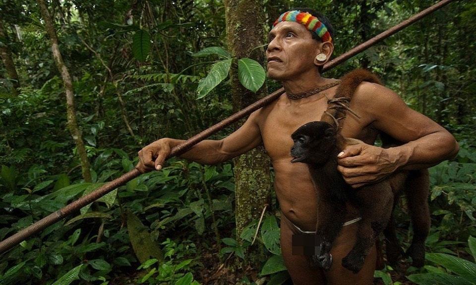 ộ tộc Huaorani sống gần sông Rio Napo, một phụ lưu chảy vào sông Amazon.