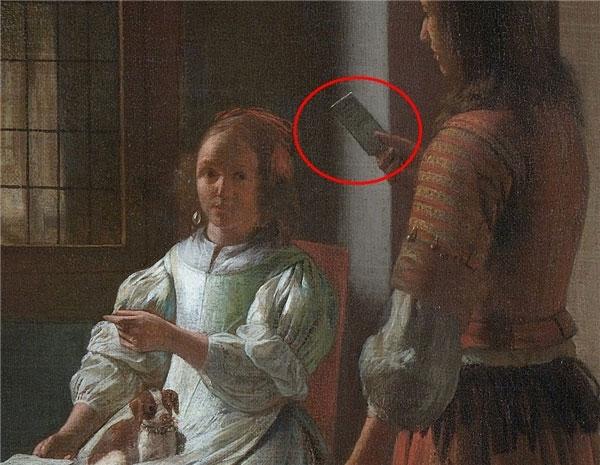 Cận cảnh bức tranh của họa sĩ Pieter de Hooch.