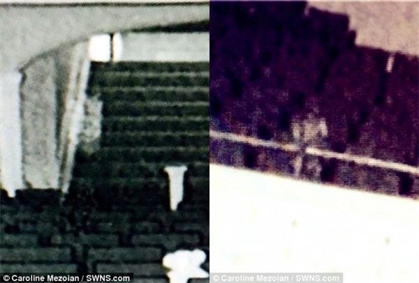 Ảnh hồng ngoại chụp tại nhà hát vào tháng trước cho thấy một cái bóng trắng mặc đầm ngủ, đứng ở khán đài.